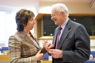 Catherine Ashton and Jimmy Carter